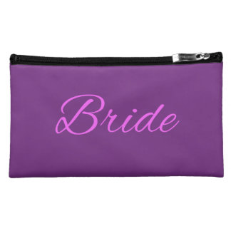 Bride Accessory Bag With Pink & Lilac