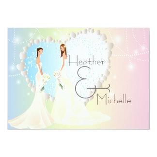 Bride and Bride Lesbian Wedding Invitation