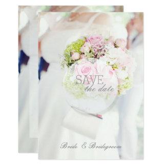 Bride and Flower Bouquet Wedding Card