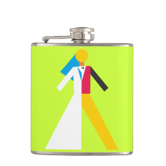 Bride and Groom Hip Flask