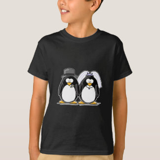 Bride and Groom Penguins T-shirts