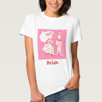 Bride and Groom Pop Art T Shirts