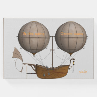 Bride and Groom steampunk guest book