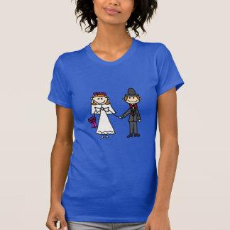 Bride and Groom Wedding Cartoon T-shirts