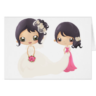 Bride and Maid of Honor Card