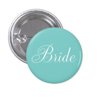 Bride {aqua} 3 cm round badge