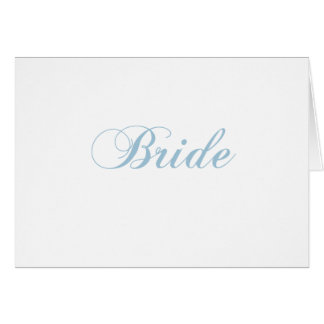 Bride Aquamarine Card