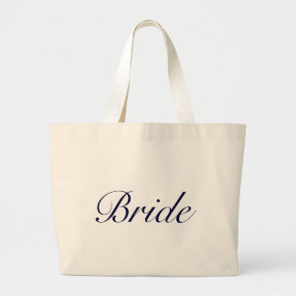 """""""Bride"""" bag-tote everything you need to get ready! Large Tote Bag"""