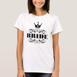 Bride Black on Custom Background T-Shirt