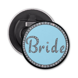 Bride bling bottle opener