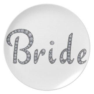 Bride bling custom plate