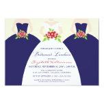 Bride & Bridesmaids Bridal Luncheon Invite (navy) 13 Cm X 18 Cm Invitation Card