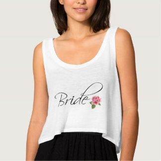 Bride Calligraphy and Rose Singlet