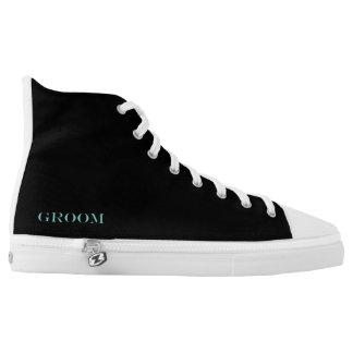 BRIDE & CO. Tiffany Theme Groom High Top Sneakers
