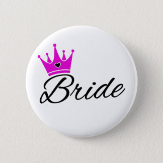 Bride Crown Bachelorette Party 6 Cm Round Badge