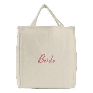 Bride Embroidered Tote Bag