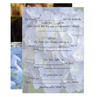 Bride & Groom Advice add a Photo Card