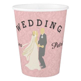 Bride Groom Dancing  Wedding Day Paper Cup