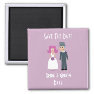 Bride & Groom Save The Date magnet