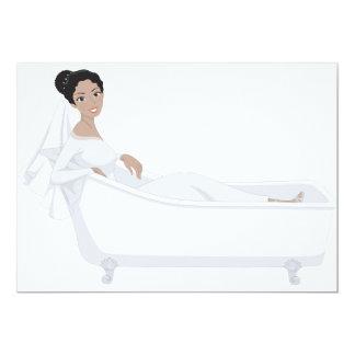 Bride In A Bathtub Invitations