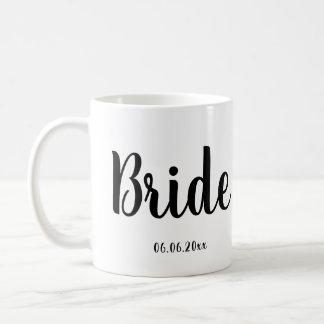 Bride Mug White With Wedding Date