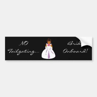 """""""Bride Onboard"""" Bumper Sticker -Customizable Car Bumper Sticker"""