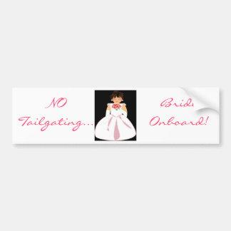 """Bride Onboard III"" Bumper Sticker - Customizable Car Bumper Sticker"