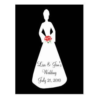 Bride Silhouette I Post Card