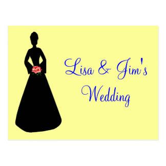 Bride Silhouette Postcard