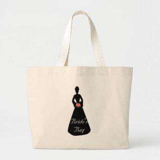 Bride Silhouette Tote Bags