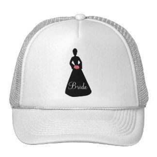 Bride Silhouette Trucker Hats