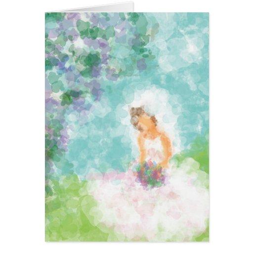 Bride Sitting Bridal Shower Invitation Cards