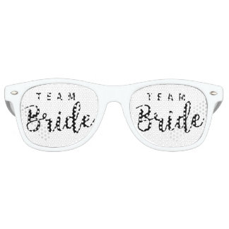 Bride Squad, Team Bride, Chic Modern Wedding Party Retro Sunglasses
