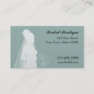 Wedding wear business cards zazzle nz bride teal business card reheart Gallery