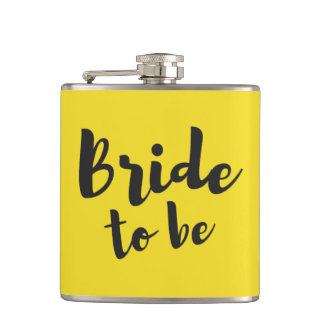 Bride to Be Bachelorette Wedding Vinyl Flask