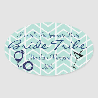 Bride Tribe Bachelorette Party Oval Sticker