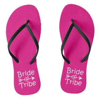 Bride Tribe funny Bridesmaids flip flops Thongs
