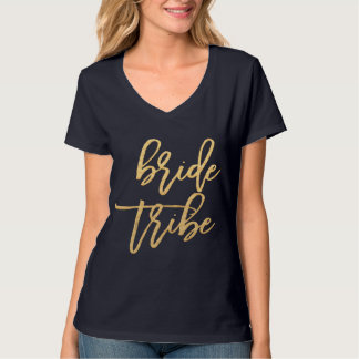 Bride Tribe Gold T-Shirt