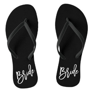 Bride White Script Thongs