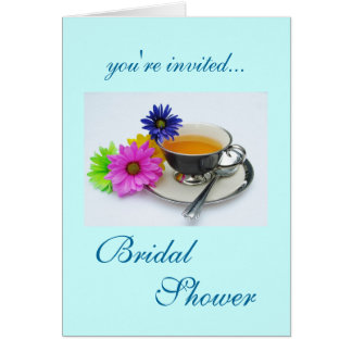 Bridel Shower: teacup and daisies Card