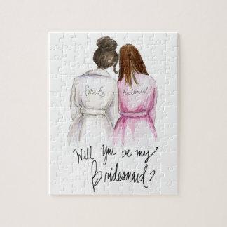 Bridemaid? Puzzle Dk Br Bun Bride Br Maid