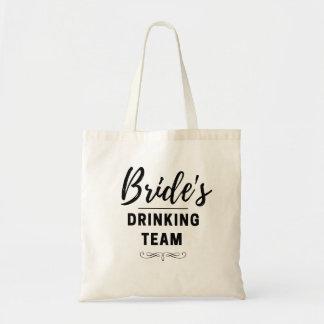 Bride's Drinking Team Bachelorette Tote Wedding