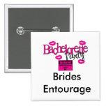 Brides Entourage Square Button (WHITE)