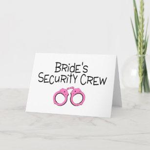 Brides Security Crew Pink Handcuffs Card