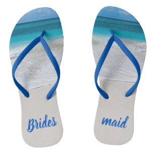 6ef0f527b Bridesmaid Beach Wedding Flip Flops