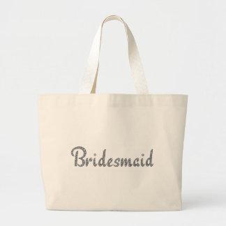 Bridesmaid bling design large tote bag