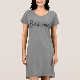 Bridesmaid bling t-shirt dress