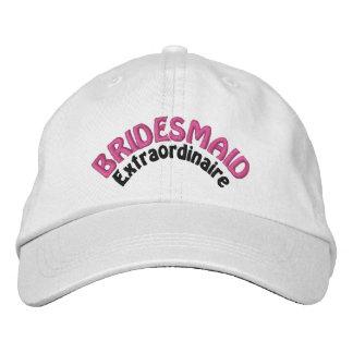 Bridesmaid Extraordinaire Embroidered Baseball Caps