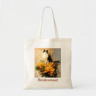 Bridesmaid Flowers Budget Tote Bag