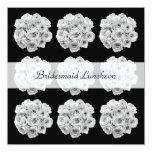 Bridesmaid Luncheon Invitation -- White Roses